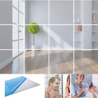 Glass Mirror Tiles Wall Stickers Square Self Adhesive Decor Stick On Art Homes