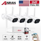 ANRAN Wireless Security Camera System 3MP Outdoor 8CH 1TB HDD NVR Audio Home IR
