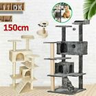 Cat Tree Activity Center Multilevel Scratching Post Kitten Climbing Tower Grey