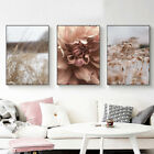 Home Hanging Decor Print Paper Canvas Wall Art Grass And Flower 3 Sets Poster