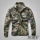 Mens Cotton Cargo jacket camouflage Outdoor Hiking Oversize Jacket Coat Outwear