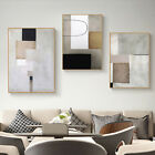 Home Hanging Decor Print Paper Canvas Wall Art Abstract Light Grey 3 Sets Poster