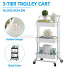 Multifunction Home Kitchen Metal Storage Organizer Rolling Utility Trolley