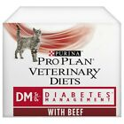 Purina Pro Plan Veterinary Diets DM Wet Cat Food Pouch 10x85g (Beef & Chicken)