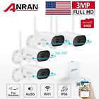 ANRAN Home Security Camera System Wireless 3MP 4CH 64GB Audio Pan Tilt Outdoor