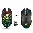 2.4GHz USB Optical Mice Gaming Mouse 7 Color LED Backlit Rechargeable For PC USA