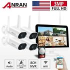 Home Security Camera System Wireless Outdoor WiFi 1way Audio 3MP CCTV With 1TB