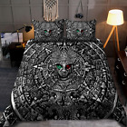 Aztec Warrior Mexican Bedding Set, Custom Bedding Aztec Warrior Mexican 3D Print