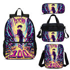 Mob Psycho 100 Anime Kids School Backpack Insulated Lunch Bag Pencil Case Lot
