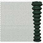Outdoor Chain Link Fencing Roll 15m / 25m PVC Garden Fence Panels Steel Durable