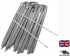 Pack Of 500 Garden Pegs Stakes Staples Securing Lawn U Shaped Nail Pins NEW UK
