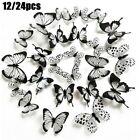 Home Wall Sticker Decal Decoration Living Room Room Wall 12/24pcs Bedroom
