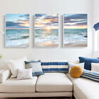 Home Decor Print Paper Canvas Wall Art Sunrise By The Ocean 3 Sets Poster