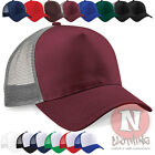 Half mesh retro trucker baseball cap hat Brand new
