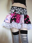 NEW Black,Pink,White Lacy Patchwork  Festival Skirt