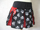 New Girls Black Red White Skulls Cheerleader Skirt Party Goth Rock Punk Gift