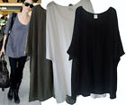 st137 Celebrity style Scoop neck Oversize BOHO top