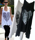 d9 Celebrity style Loose Cropped BIG HEART tunic