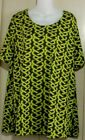 Plus A PERSONAL TOUCH Dune Brown/Lime A-line NWT Sz1-6x