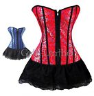 Red Victorian Lace Dress CORSET With G-String  S-6XL A07