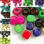 Wholesale 300pcs wooden beads 6x6mm cube choose from 10 colours free ship