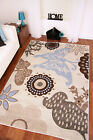 Napoli Ivory Off White Duck Egg Blue Brown Butterfly Rugs Modern Thick Mat New