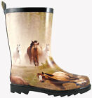 NEW Running Horse, Rubber, Waterproof, Round Toe, C - 9 - 3, Rain  Boots