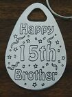 13th 18th 21st 30th 40th 50th 60th BROTHER BRO BIRTHDAY KEYRING GIFT PRESENT
