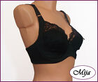 Mija Arts sexy Bra UK size DD 34 36 38 black Very elegant and comfortable !!