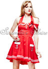 Hell Bunny RED ~MoTLeY~ Mini Pin-Up Sailor Rock n Roll Party Dress 8-16 XS-XL