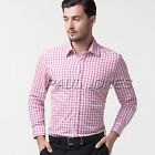 6Colors!! Man/Mens Casual Shirts/Plaid Grids Dress Shirts, Free Shipping!!