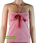 Playboy Womens Red & White Gingham Cami Style Top 8 10 12 14 16 Free UK Shipping