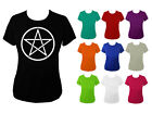 Womens Pentagram Pagan Wiccan Witchcraft T-shirt NEW UK 6-18