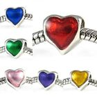 Sweetie Heart Silver European Spacer Charm Bead For Bracelet Necklace