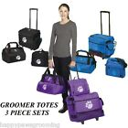PET GROOMER GROOMING 3pc Tool Case Tote Bag Duffle SET WHEELS Telescoping Handle