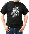 56S T Shirt Rock Roll Punk Gothic Skull Live fast young