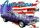1968 Plum Plymouth BarraCuda Custom Hot Rod USA T-Shirt 68, Muscle Car Tee's