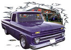 1964 Blue Chevy Pickup Truck a Custom Hot Rod Garage T-Shirt 64,65 Muscle Car T