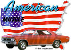 1966 Red Chevy Chevelle SS a Custom Hot Rod USA T-Shirt 66, Muscle Car Tee's