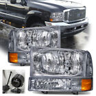 99-04 F250 F350 F450 SUPERDUTY EXCURSION CHROME HEADLAMPS HEADLIGHTS 00 01 02 03