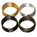 Gold/Silver Plated Flat Memory Steel Wire For Cuff Bangle Bracelet 60mm to chose