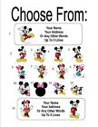 30 Mickey and/or Minnie Mouse Personalized Address Labels