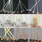 20pcs Silver Golden zinc alloy Long Head Pins Finding You Choose Style