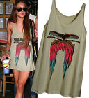 CELEBRITY style ethnic wing print twisted shoulder A line mini tunic dress