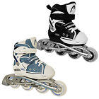 NEW HEAD JUNIOR GIRLS BOYS PRO ADJUSTABLE INLINE ROLLER SKATES BLADES BLACK BLUE