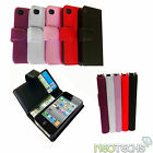 Flip Leather Wallet Credit Card Case Cover for Apple iPhone 4 4G 4S