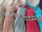 TIFFANY CRYSTAL KEY TASSEL - black, white, d egg, pink, silver, chocolate, beige