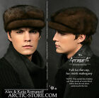 Cap Cabbie Cabby full fur hat Black/Brown/Mahogany/Pastel RANCHED MINK Nerzmutze