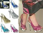 NEW Virginia Platform Slingback Shoe Glitter Silver Gold Fuchsia Turquoise Royal