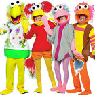 Adult Fraggle Rock 80's Fancy Dress Costume Outfit Mens Ladies Womens Male New